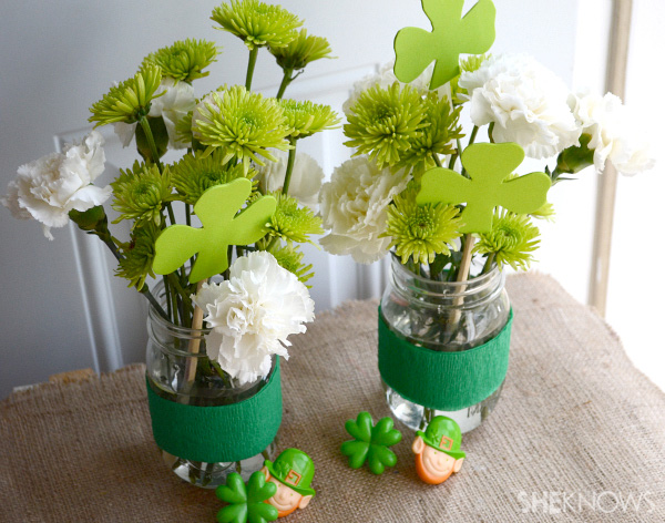 Saint Patrick's day centerpiece