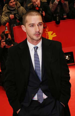 Shia LaBeouf at a movie premiere