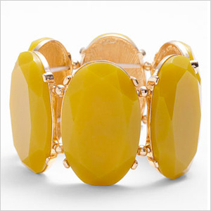 Yellow Tasha Stretch Bracelet