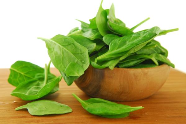Spinach for folic acid