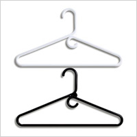 Black and white heavywieght hangers