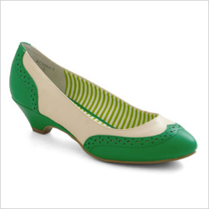 Green Kitten Heel Pumps - The Cutest Kittens