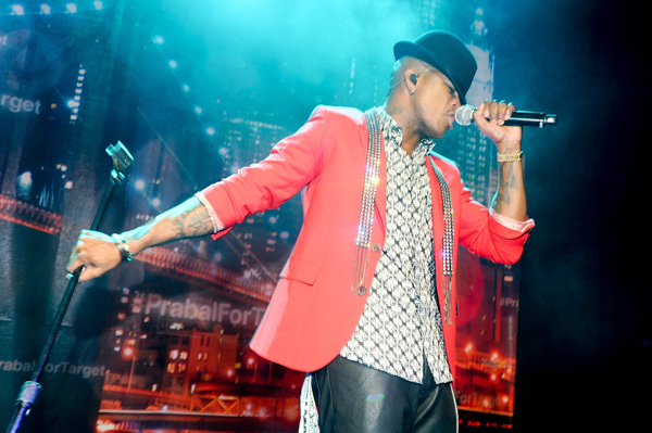 Ne-Yo performing at Prabal Gurung's Target collection launch party