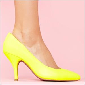Yellow Effie Neon Pump