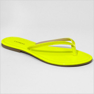 Yellow Sequin Embellished Flip Flop