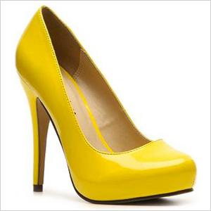 Yellow Michael Antonio Love Me Pat Pump