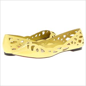 Betsy Johnson Emmi Yellow Patent Flats