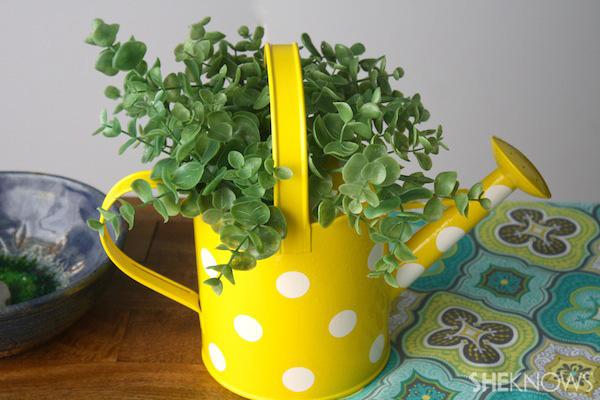 Water can flower pot