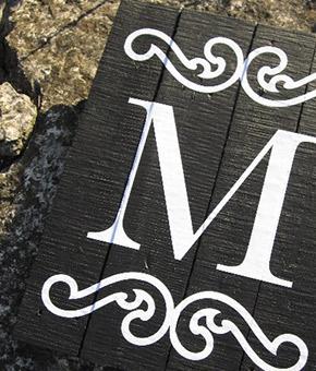 monogram sign