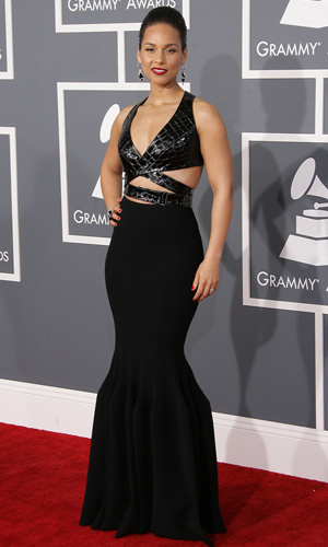Alicia Keys at the 2013 Grammys