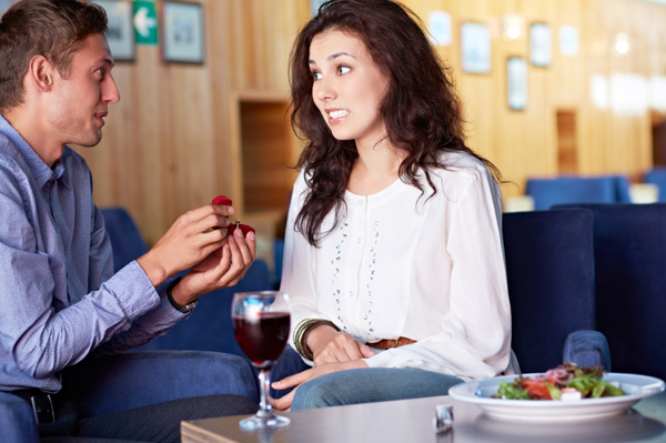 Woman upset with proposal