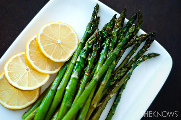 Roasted asparagus with lemon recipe