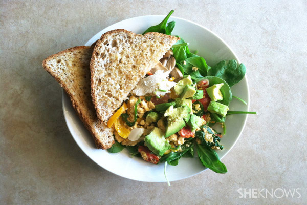 Organic veggie scramble recipe
