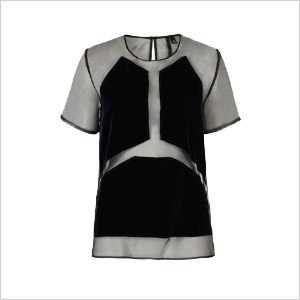 Velvet organza tee by boutique