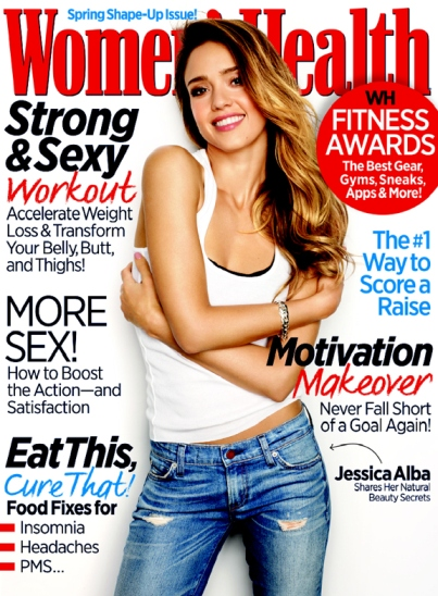 Jessica Alba March 2013 Women's Health cover