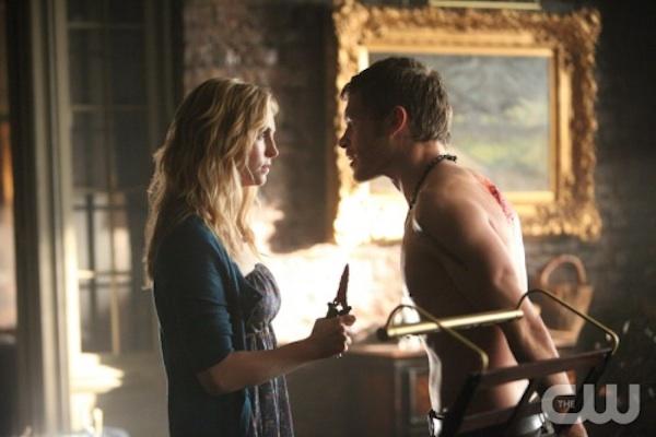 Caroline and Klaus in The Vampire Diaries
