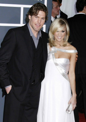 Mike Fisher and Carrie Underwood in 2010 at the Grammys