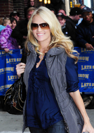 Carrie Underwood in 2009 on the David Letterman Show