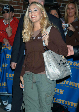 Carrie Underwood in 2006 on David Letterman
