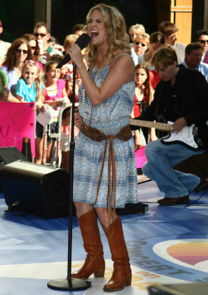 Carrie Underwood in 2005 on the Today Show
