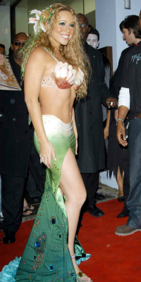 Mariah Carey at her Halloween Party in England, 2003