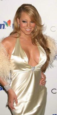 Mariah Carey at album release party in 2005
