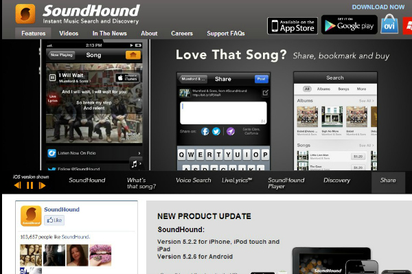 SoundHound phone app