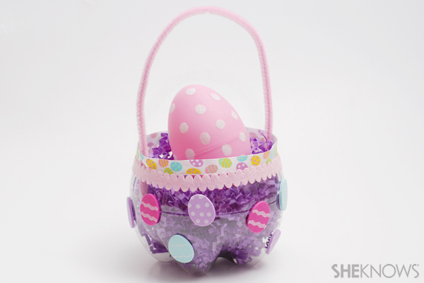 Soda bottle Easter basket
