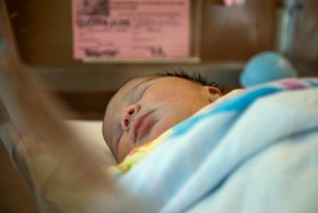 Baby in hospital nursery