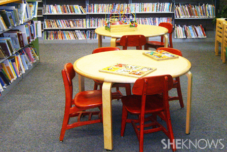 Children's area in the library