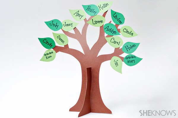 3D family tree craft