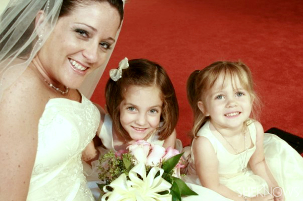 Claire and Anna, flower girls