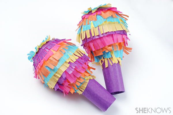 Pinata-inspired maracas craft
