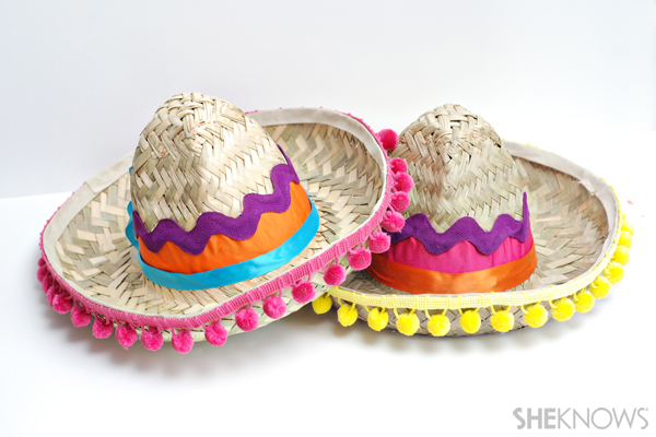 Pinata-inspired sombreros craft