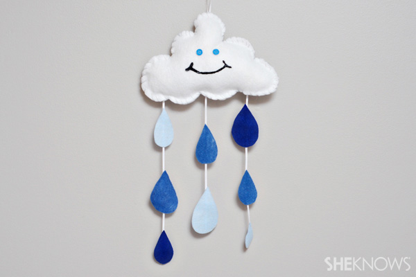 Rain cloud mobile craft