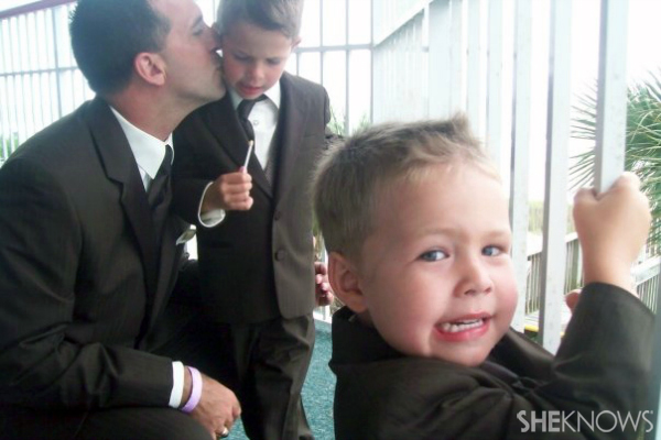 Ring bearers Charlie and Thomas