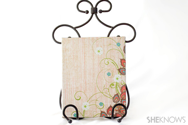 Scrapbook paper canvas craft
