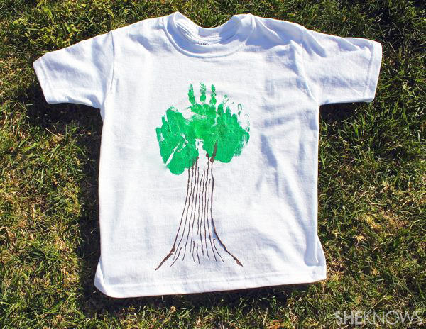 Diy earth day tree shirts for How to paint on t shirt