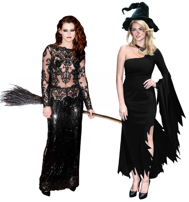 Kristen Stewart and Kate Upton as witches