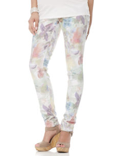 Maternity pants with floral print