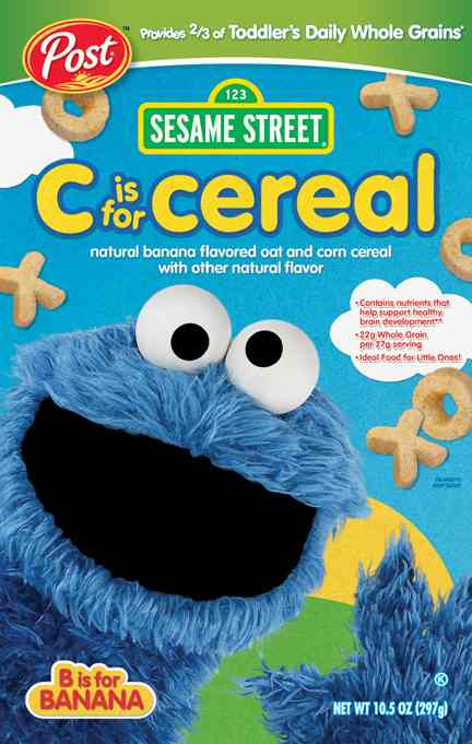 Post Sesame Street Cereal with Cookie Monster