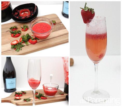 Strawberry Bellini collage