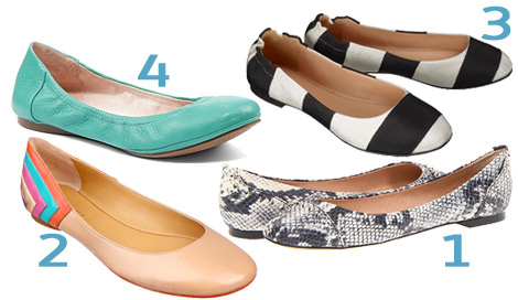 Bold ballet flats collage