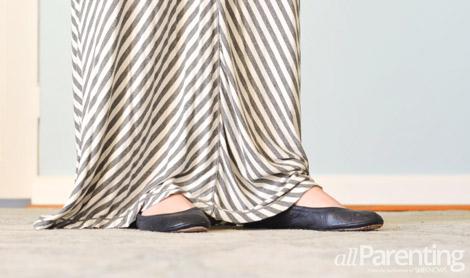 Ballet flats with maxi skirt
