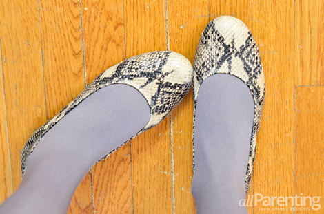 Ballet flats with tights