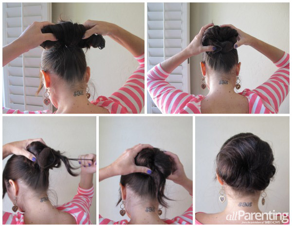 HOt Buns step by step collage