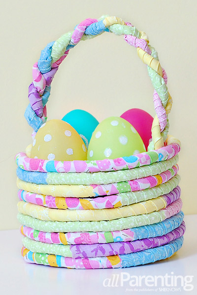 Diy fabric easter basket allparenting fabric easter basket negle Images