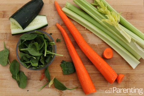 Green Carrot juice ingredients