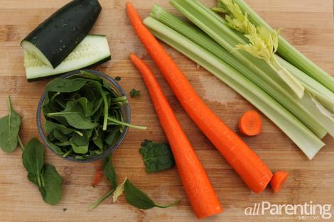 Green Carrot juice ingredients