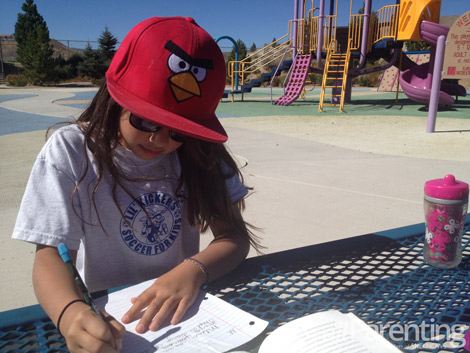Homeschooling at the park